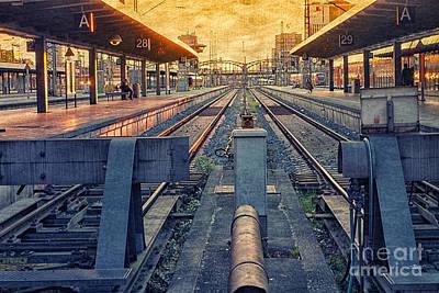 Photograph - Railway Station by Jutta Maria Pusl