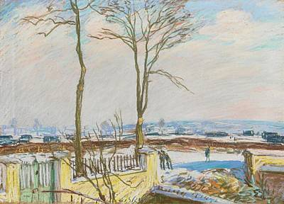 Railway Station Painting - Railway Station Moret by Alfred Sisley