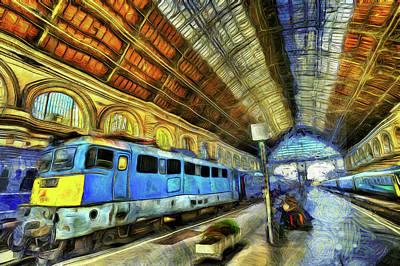 Mixed Media - Railway Station Van Gogh by David Pyatt