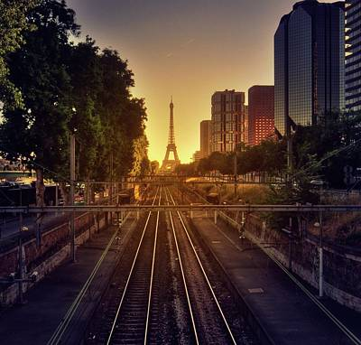 Paris Photograph - Railway Tracks by Stéphanie Benjamin