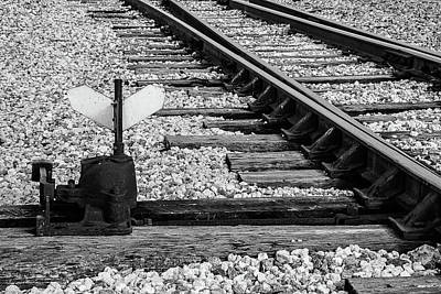 Photograph - Railway Turnout Switch by Dawn Currie