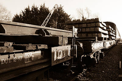 Railway Wagons Print by Steven Sexton