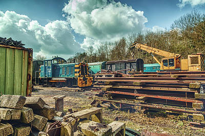 Photograph - Railway Yard II by Stewart Scott