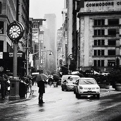 Cities Photograph - Rain - New York City by Vivienne Gucwa