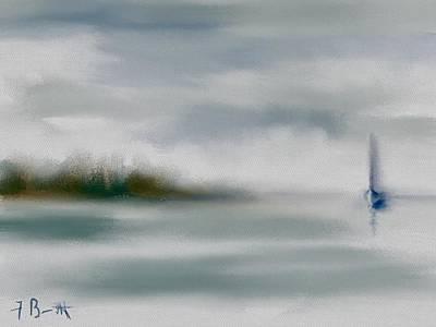 Digital Art - Rain And Fog At Hilton Head Island by Frank Bright