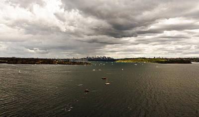 Photograph - Rain Arrives Before Tall Ships by Miroslava Jurcik