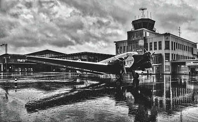 Photograph - Rain At The Airport - Paderborn, Germany by Pixabay