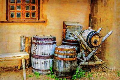Rain Barrels Art Print by Jon Burch Photography