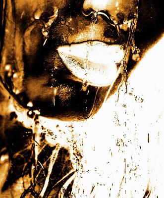 Surrealism Photograph - Rain Bronze by Prar Kulasekara