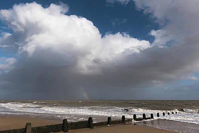 Photograph - Rain Cloud And Rainbow by Gary Eason