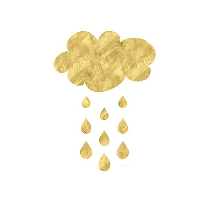 Rain Cloud- Art By Linda Woods Art Print by Linda Woods