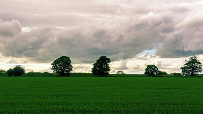 Photograph - Rain Clouds Above Fields In Somerset England by Jacek Wojnarowski