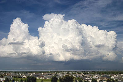 Storm Photograph - Rain Clouds Over Lake Apopka by Carl Purcell