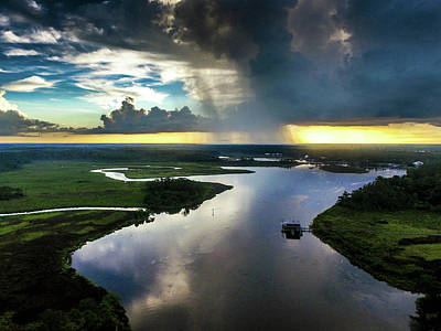 Photograph - Rain Clouds Over The Bon Secour River by Michael Thomas