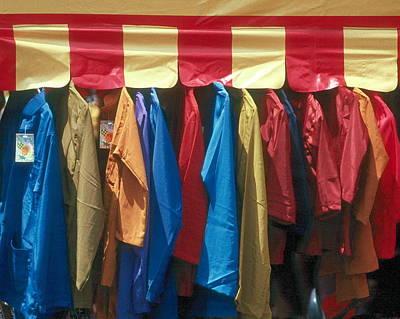Photograph - Rain Coats Guilin Market by Douglas Pike