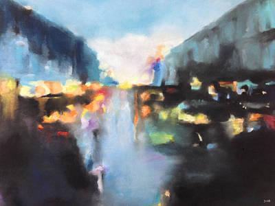 Pastel - Rain Colors by Carrie Diaz