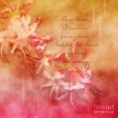 Isaiah Digital Art - Rain Dance - Verse by Anita Faye