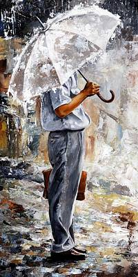 Painting - Rain Day - The Office Man by Emerico Imre Toth