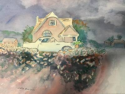 Painting - Rain Forecasted On The Hill by John Svenson