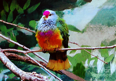 Painting - Rain Forrest Bird 1 by Mas Art Studio