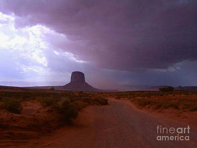 Photograph - Rain In Monument Valley Arizona by Merton Allen