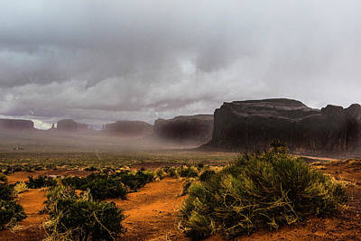 Photograph - Rain In Monument Valley by Roy Nierdieck