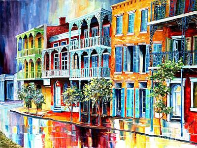Cloudy Day Painting - Rain In Old New Orleans by Diane Millsap