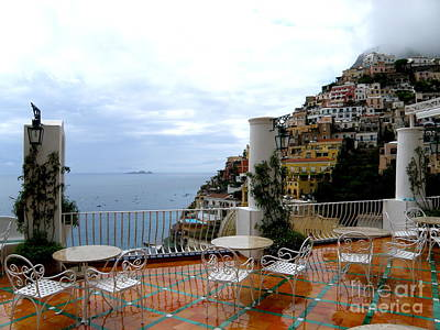 Rain In Positano Art Print