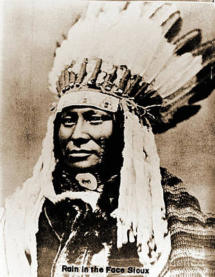 Photograph - Rain In The Face Sioux by Gary Wonning