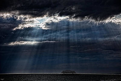 Photograph - Rain Is Coming To Brighton by Chris Lord