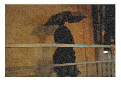 Photograph - Rain. Lady In Black. Impressionism. Ltd Edition Of Only 20 Fine Art Giclee Prints by Jenny Rainbow