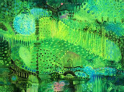 Surrealistic Painting - Rain Land I  by Lolita Bronzini