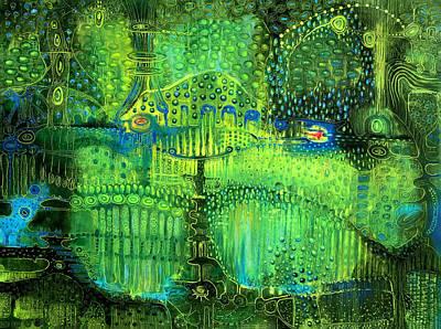 Surrealistic Painting - Rain Land II by Lolita Bronzini