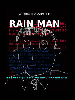 Woody Allen Digital Art - Rain Man Movie Poster  by Enki Art