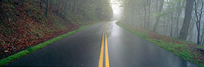Rain On Foothill Parkway, Great Smokey Art Print by Panoramic Images