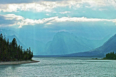 Photograph - Rain On Jackson Lake In Grand Tetons National Park, Wyoming  by Ruth Hager
