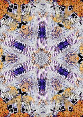 Digital Art - Rain On Me 6 Kaleidoscope 3 by Kate Word