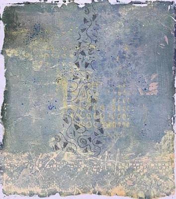 Mixed Media - Rain On My Windowpane by Susan Richards