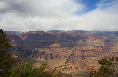Photograph - Rain On North Rim Over Bright Angel Trail by Gregory Scott