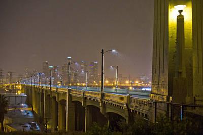 Photograph - Rain On The Sixth Street Bridge  by Kevin  Break