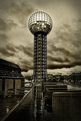 Photograph - Rain On The Sunsphere by Sharon Popek