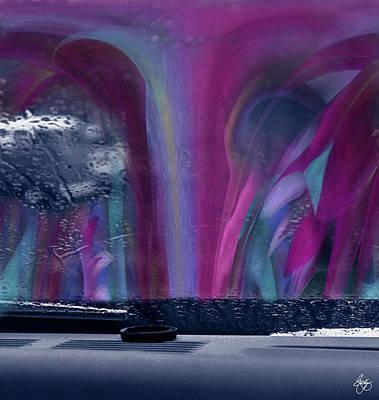Photograph - Rain On The Windshield Abstract by Wayne King