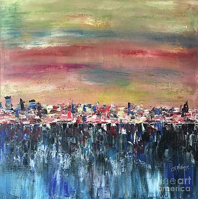 Painting - Rain Over City by Heather McKenzie