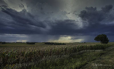 Photograph - Rain Over Prairie Home by Jim Bunstock