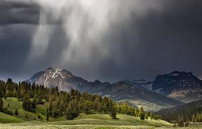Absaroka Photograph - Rain Over The Absarokas - Yellowstone by NPS Neal Herbert