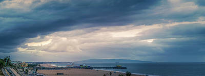 Photograph - Rain Over The Bay - Panorama by Gene Parks