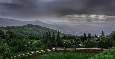 Print featuring the photograph Rain Over The Silesian Beskids by Dmytro Korol