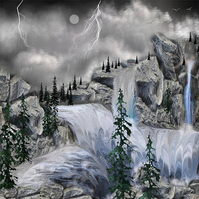 Digital Art - Rain Over Yonder by Artful Oasis