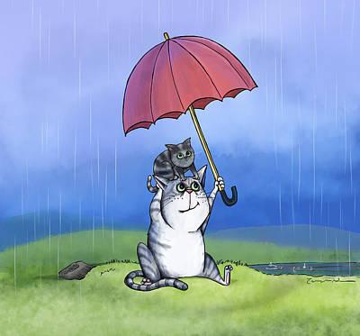Painting - Rain, Rain by Temah Nelson