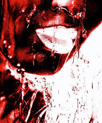 Portrait Photograph - Rain Red by Prar Kulasekara